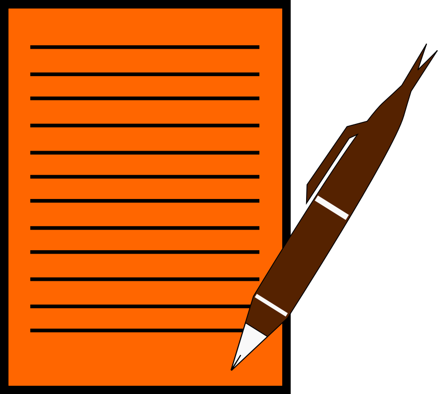 pen-writing-on-paper-cartoon-clipart